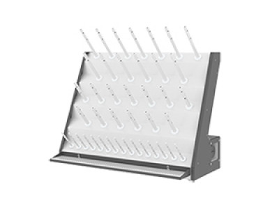 Electric glassware drying rack